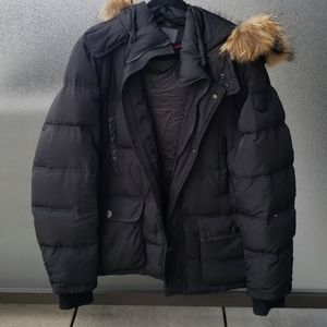 atelier noir by RUDSAK  fur trim winter jacket